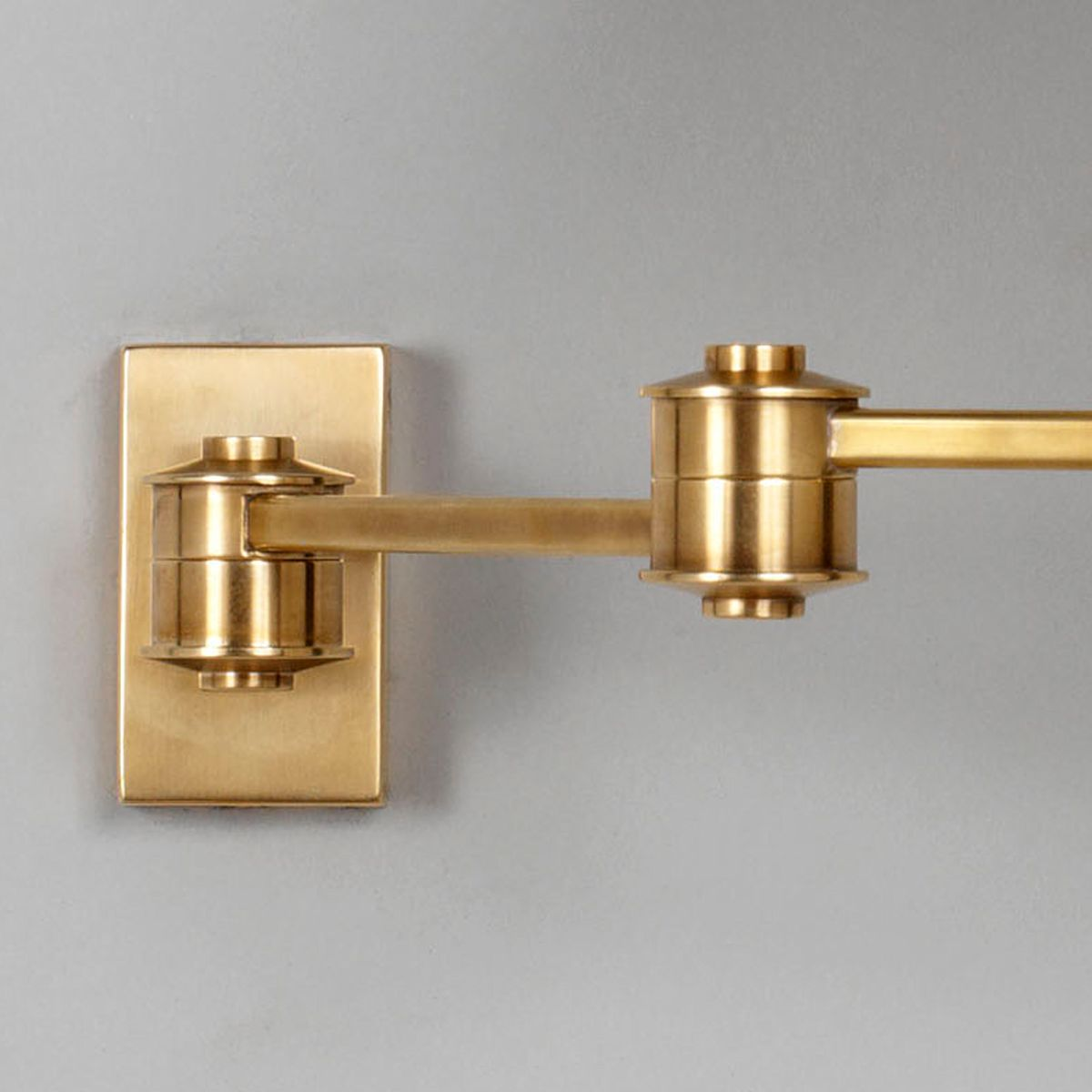 Library Swing Arm Wall Light - Brass