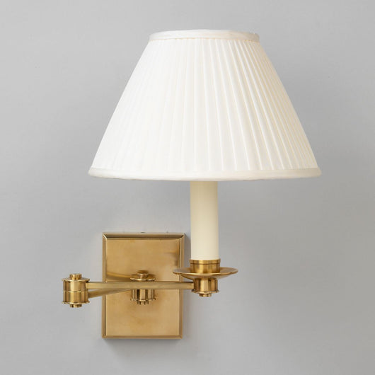 Preston Swing Arm Wall Light-Brass