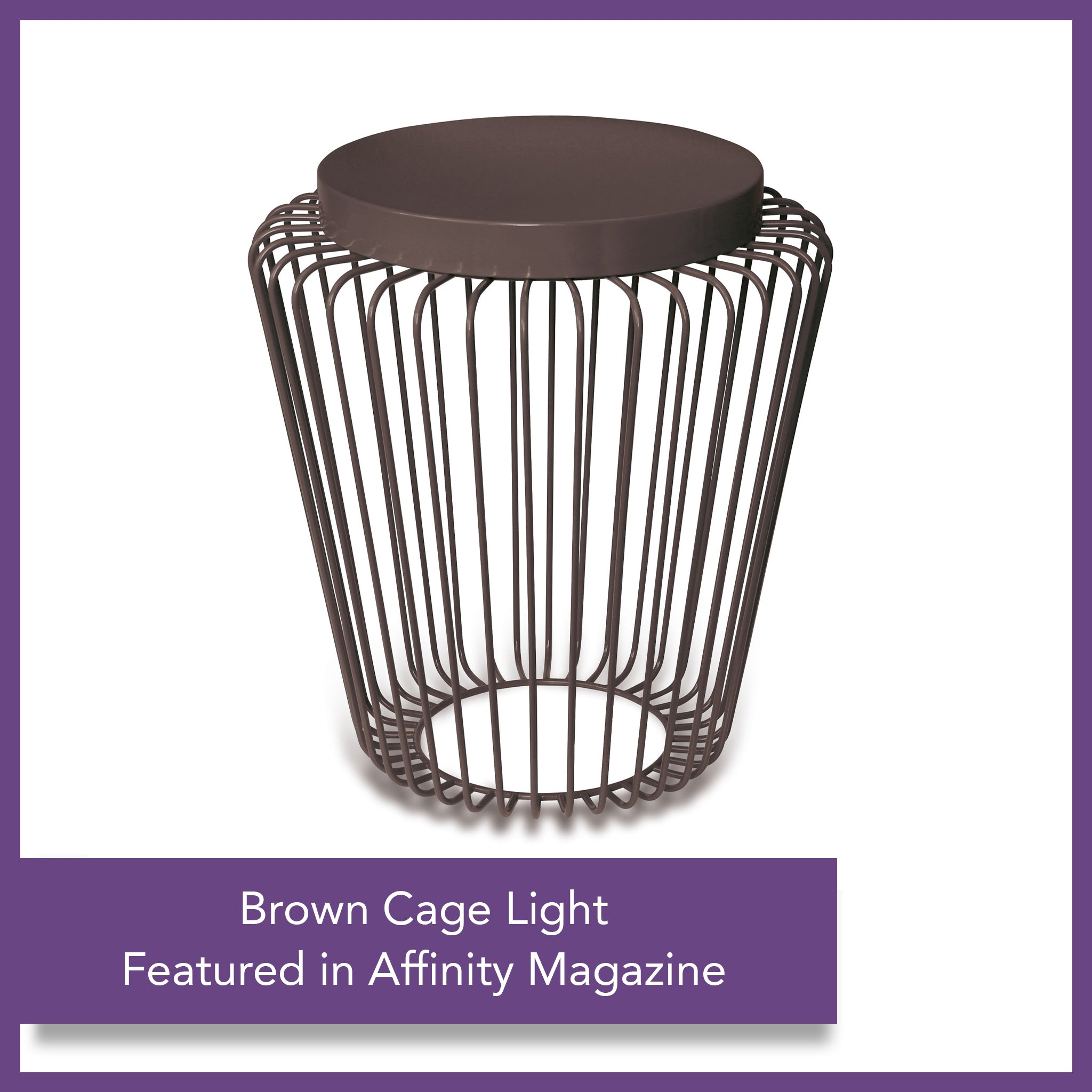 Cage Cordless Floor Light - Brown