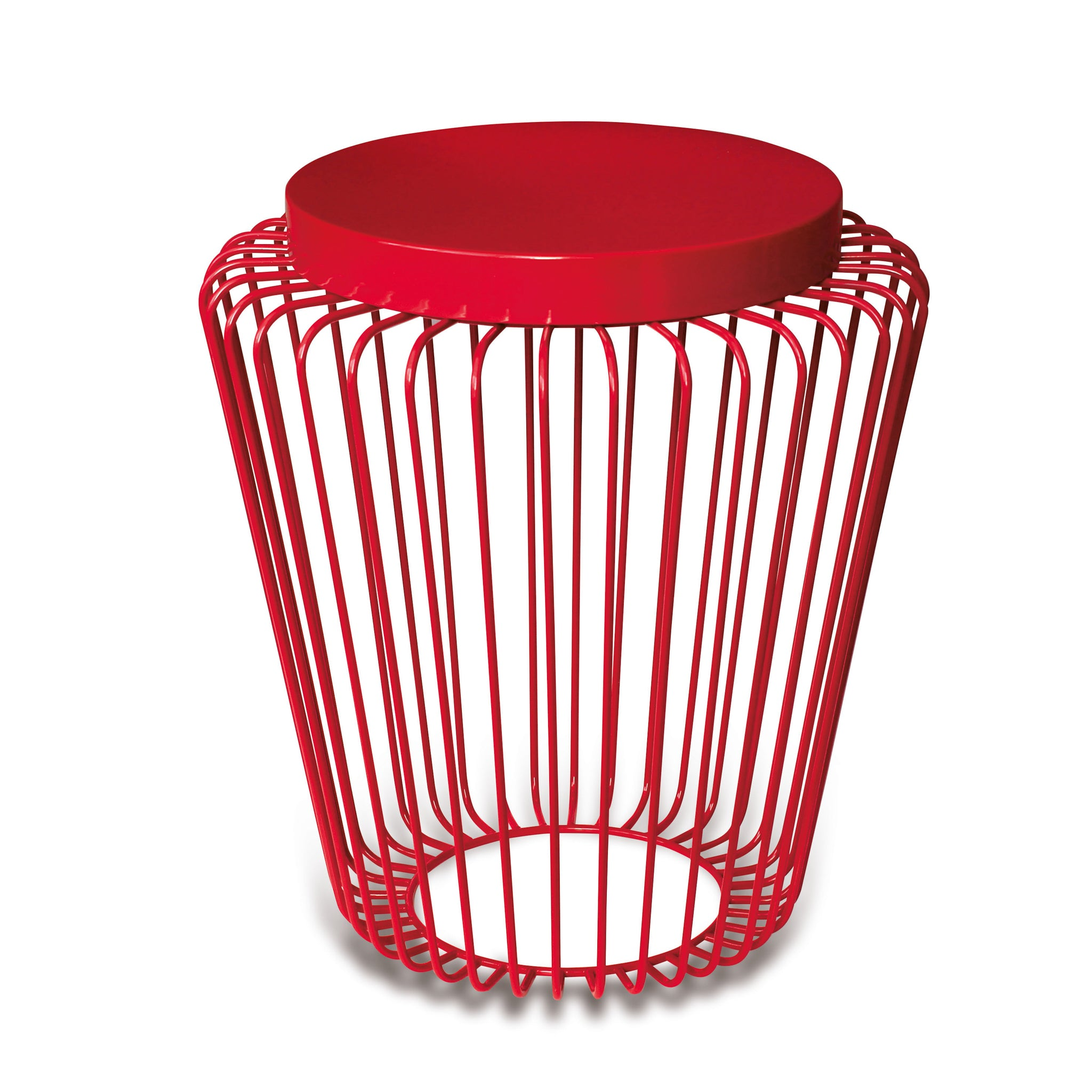 Cage Cordless Floor Light - Red | Nicholas Engert Interiors