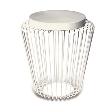 Cage Cordless Floor Light - White | Nicholas Engert Interiors