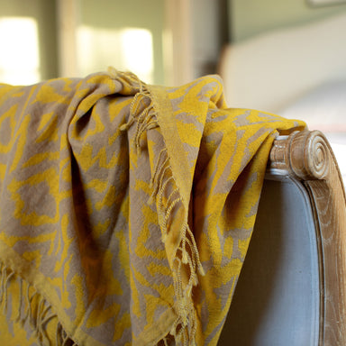 Canary Wool Ikat Throw | Nicholas Engert Interiors