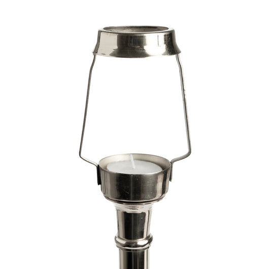 Candle Shade Carrier-Tee Light Holder-Silver | Nicholas Engert Interiors