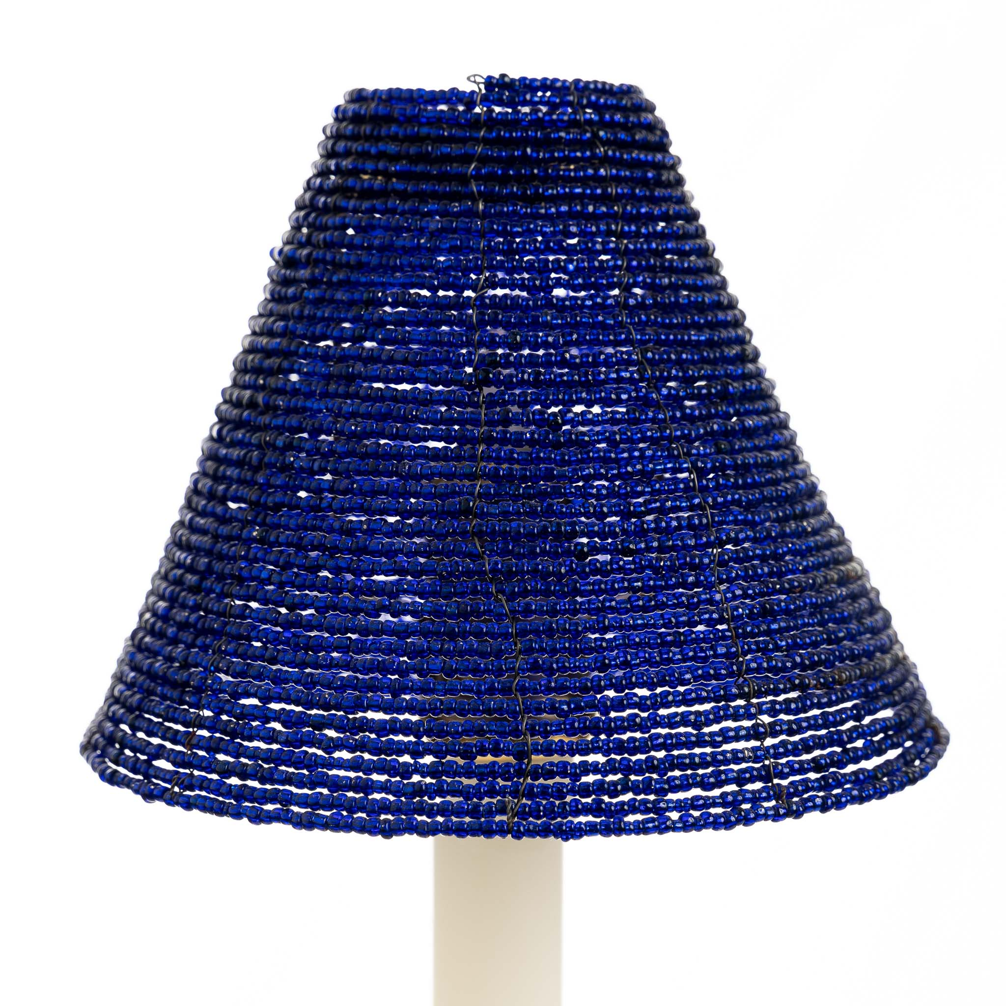 Glass Beaded Candle Shade - Blue | Nicholas Engert Interiors