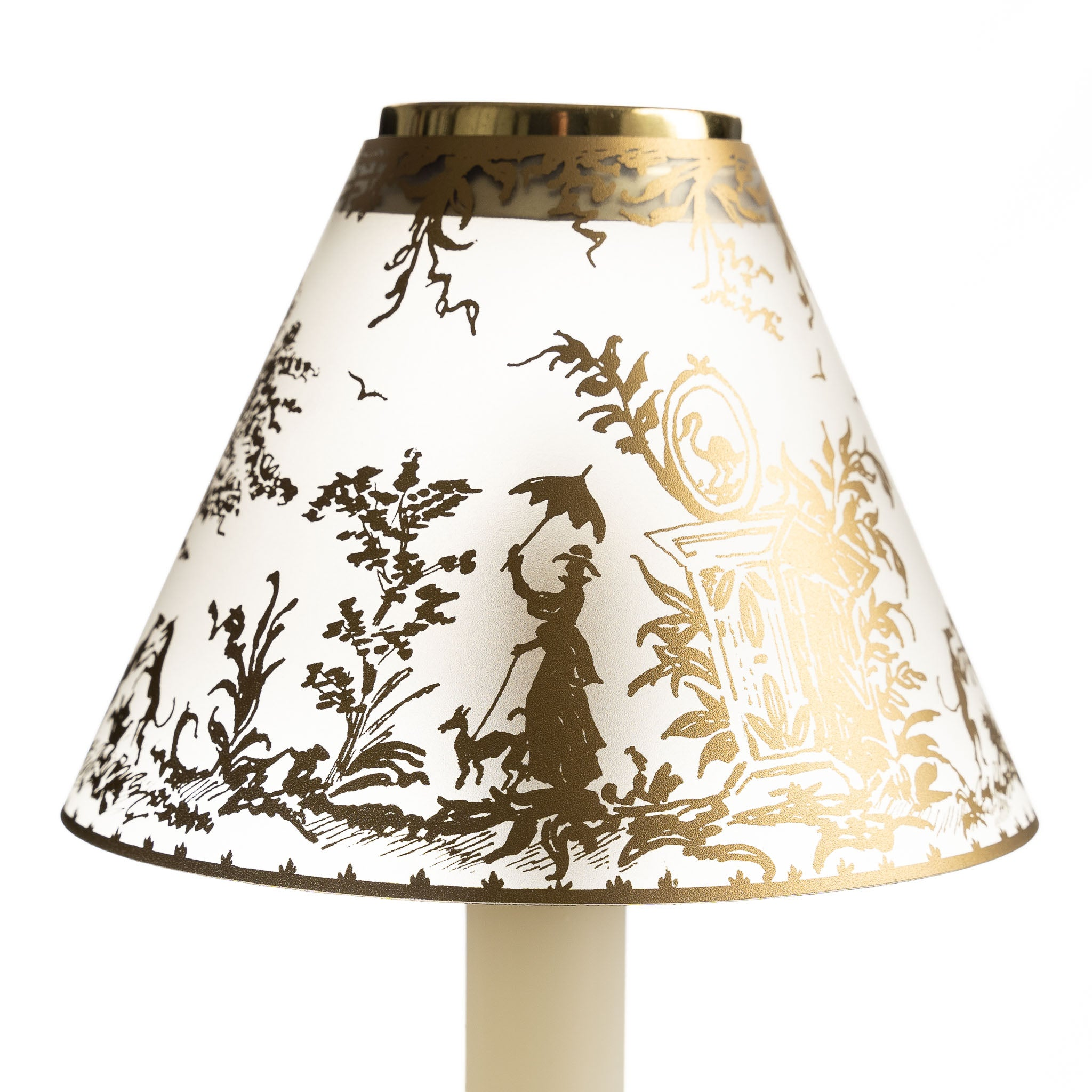Translucent Candle Shade - Gold 18th Century | Nicholas Engert Interiors