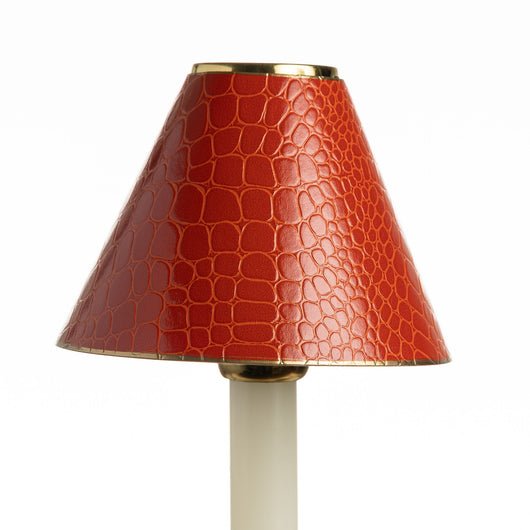 Candle Shade-Printed Card-Crocodile-Burnt Orange | Nicholas Engert Interiors