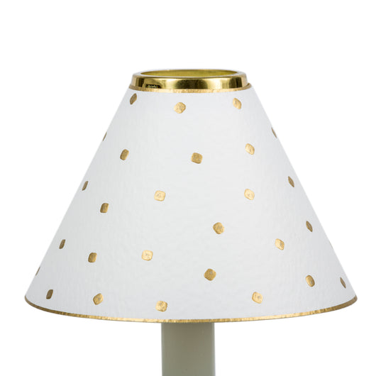 Candle Shade-Embossed-Gold Dots-Ivory | Nicholas Engert