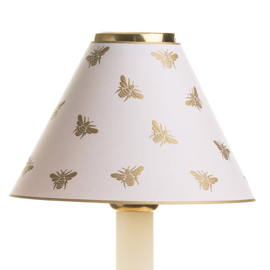 Candle Shade-Printed Card-Gold Embossed Napoleon Bee | Nicholas Engert