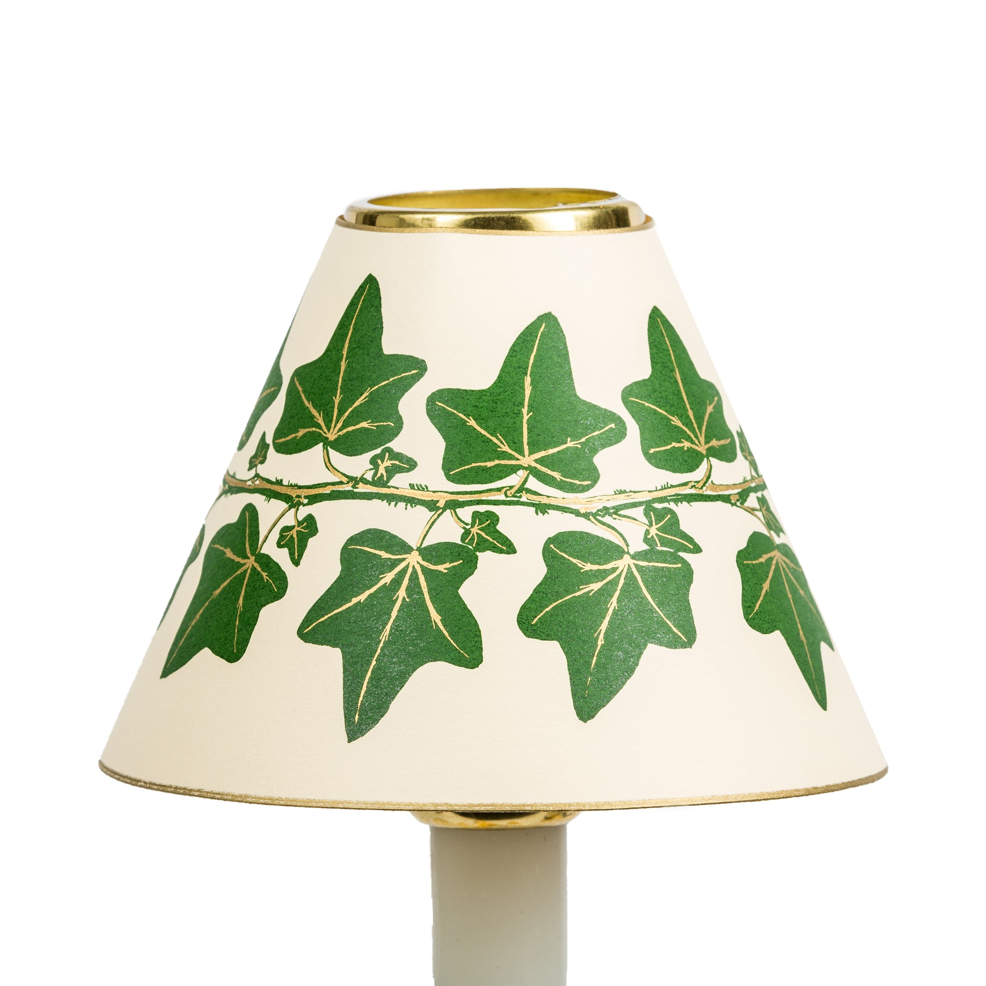 Candle Shade-Printed Card-Dark Green Ivy | Nicholas Engert