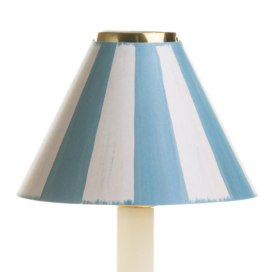 Candle Shade-Printed Card-Swedish Stripes-Blue & White | Nicholas Engert Interiors