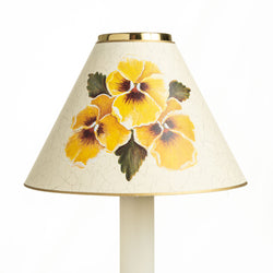 Candle Shade - Yellow Pansies | Nicholas Engert Interiors