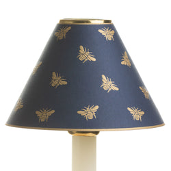 Decorative Candle Shade-Gold Embossed Napoleon Bee Dark