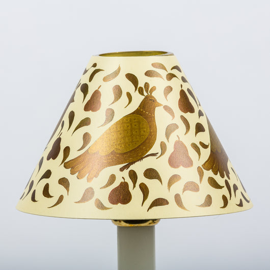 Decorative Candle Shade-Printed Card-Partridge Cream | Nicholas Engert