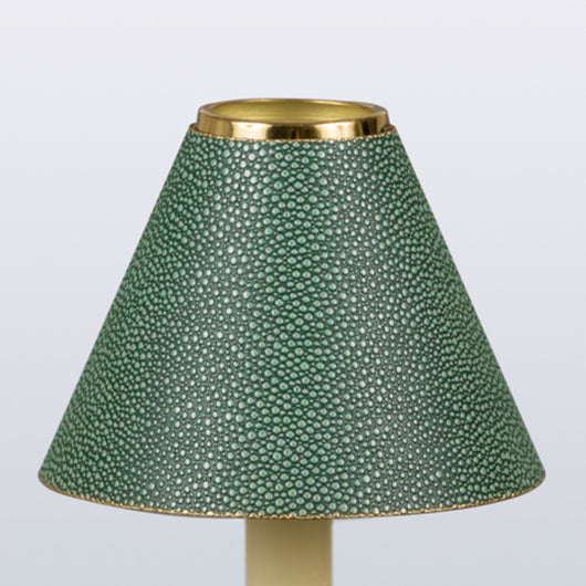 Candle Shade Shagreen-Green | Nicholas Engert