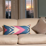 : Candy Ikat Cushion-Context | Nicholas Engert Interiors