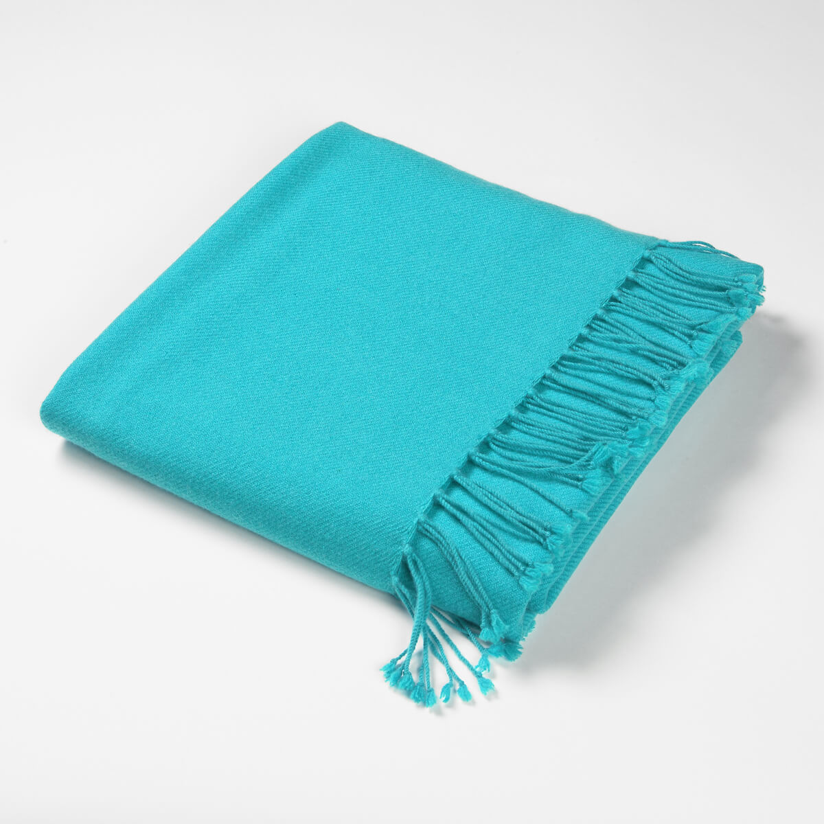 Luxury Cashmere & Lambswool Throw-Turquoise | Nicholas Engert Interiors