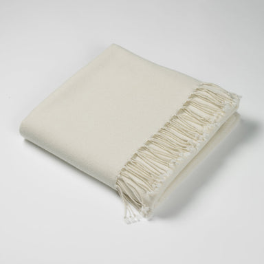 Luxury Cashmere & Lambswool Throw-White | Nicholas Engert Interiors