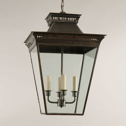 Mottisfont Porch Lantern-Bronze-Large