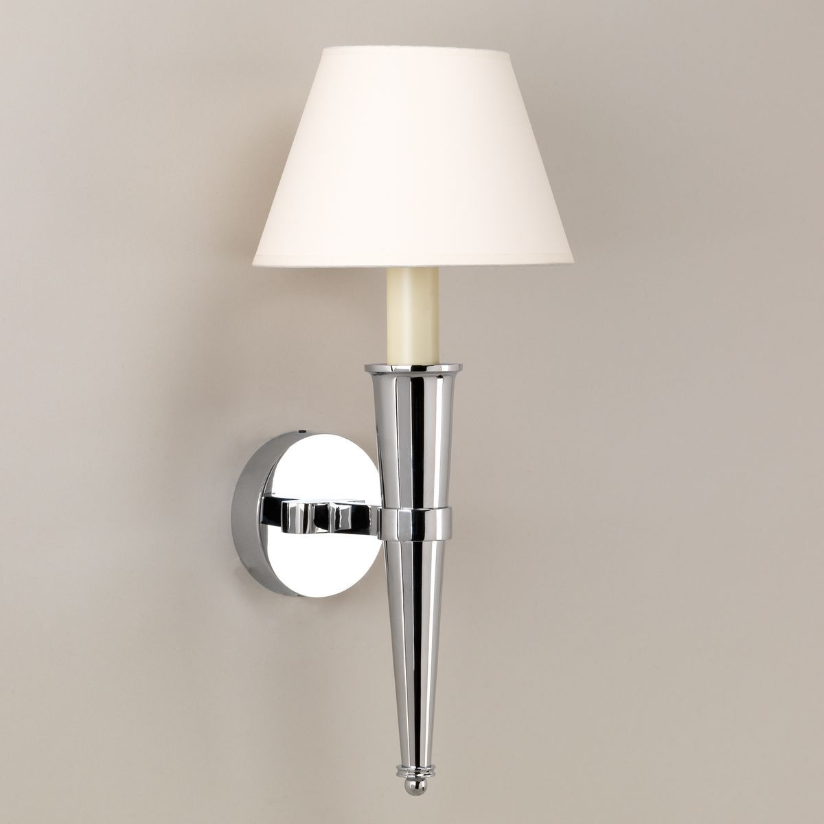 Arras Cone Bathroom Wall Light-Chrome