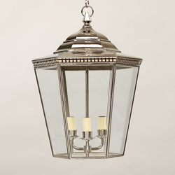 Georgian Porch Lantern-Nickel