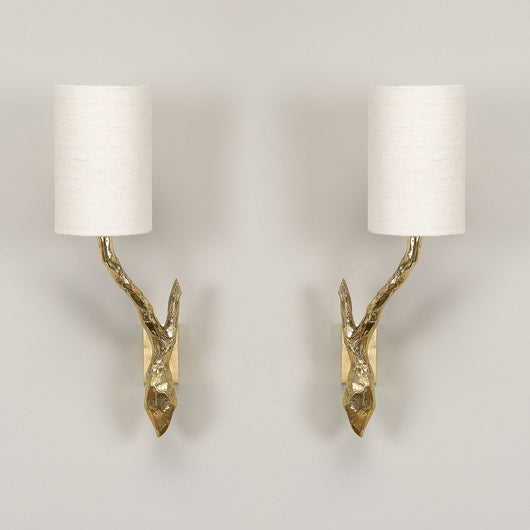 Twig Bathroom Wall Light-Antique Brass