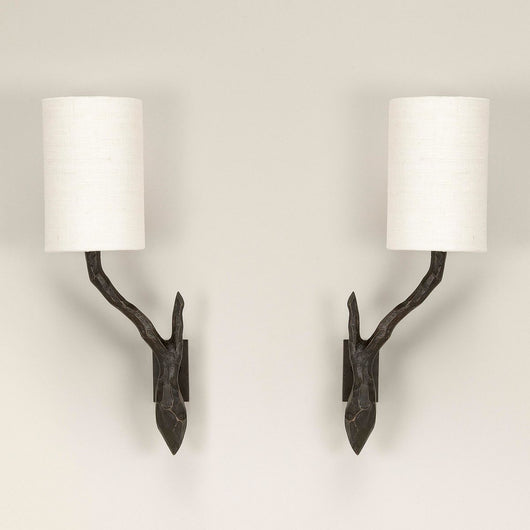 Twig Bathroom Wall Light-Bronze-Pair