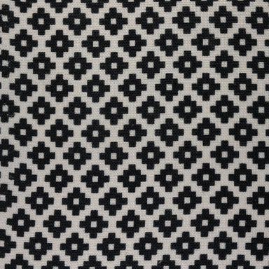 Geometric Print Fabric - Falmouth 49/011 Black Magic