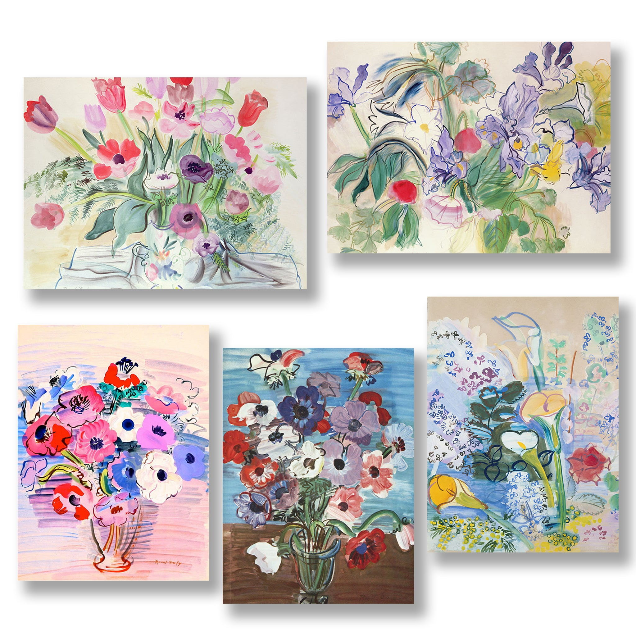 Set of Flowers Greetings Cards | Nicholas Engert Interiors