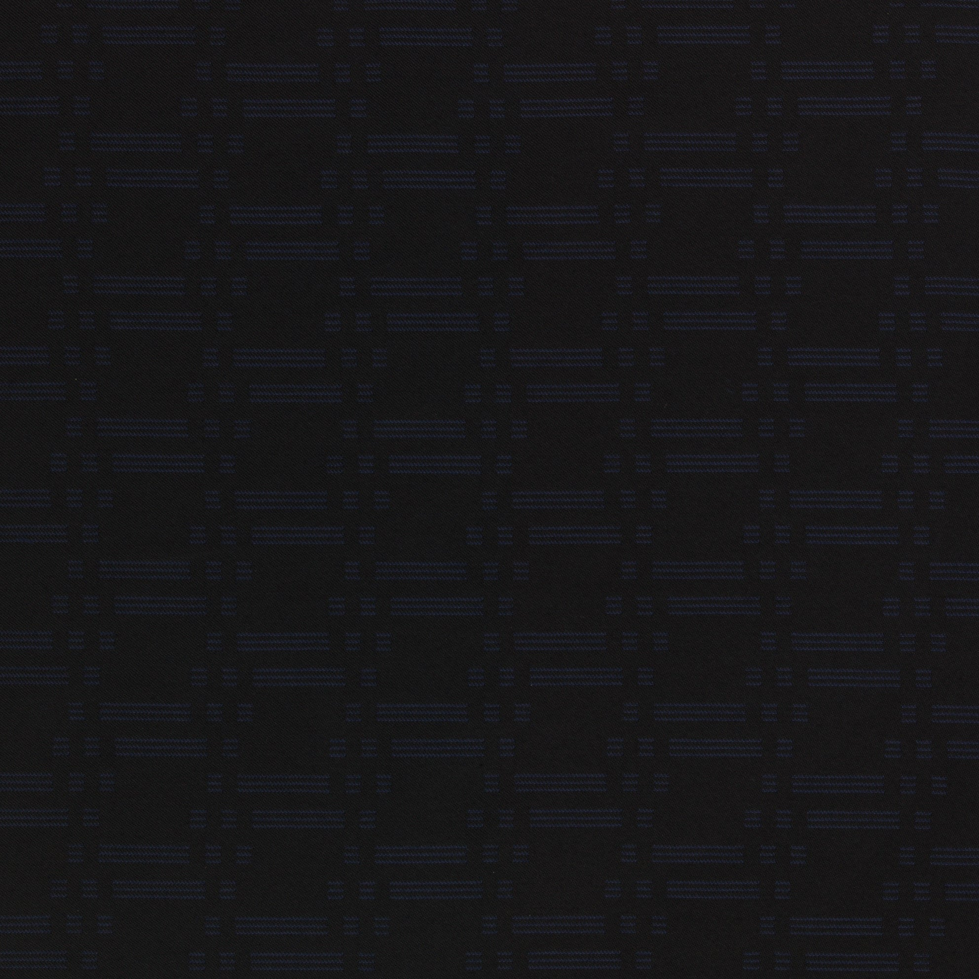 Triton Contract Furnishing Fabric - Dark Blue Black Reverse