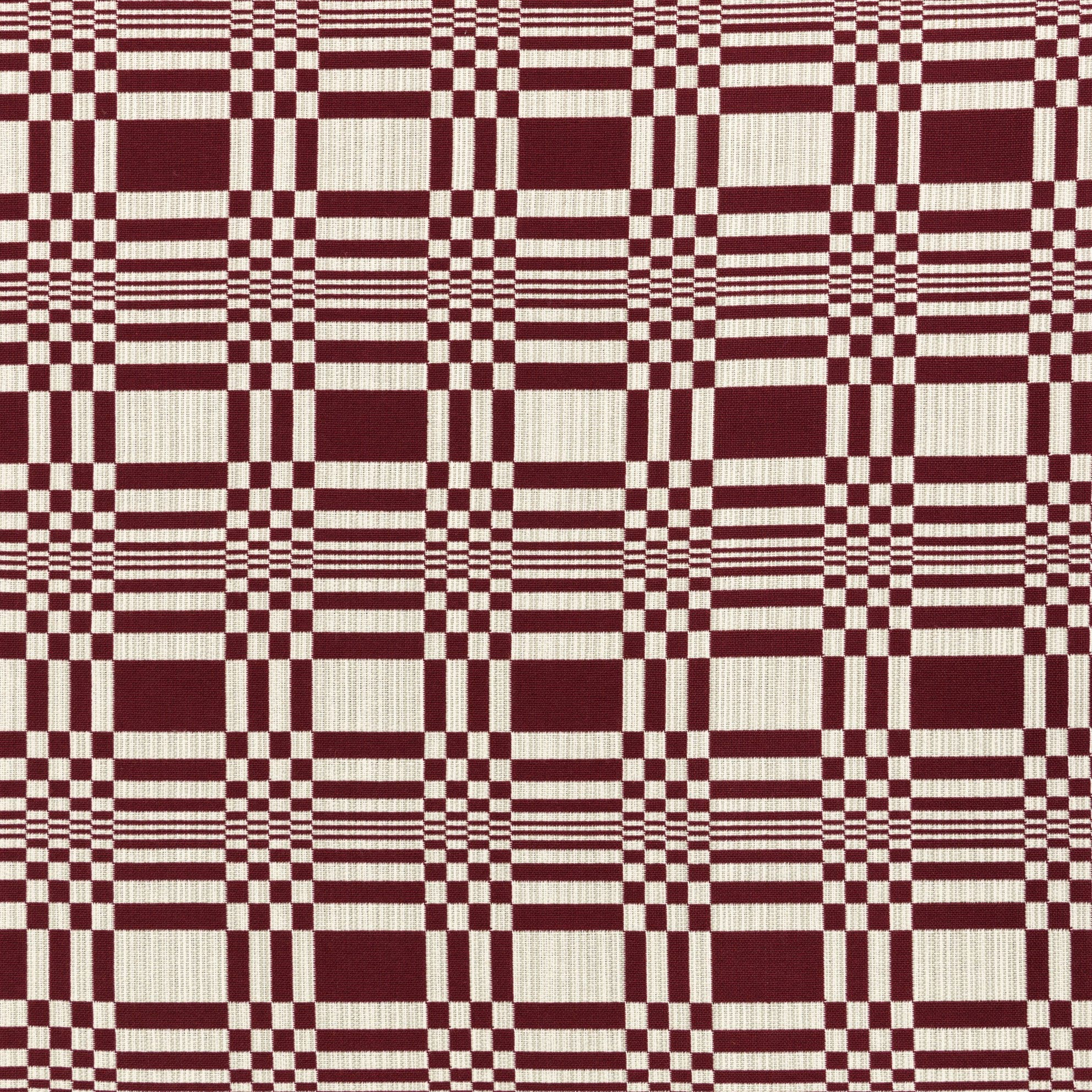 Cotton Fabric Doris - Bordeaux | Nicholas Engert Interiors