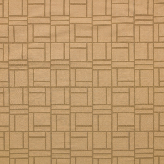 Woven Jacquard Fabric-Piazza-Light Gold