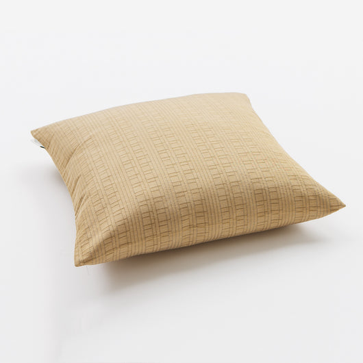 Luxury Linen & Silk Cushion - Parnaso Cushion/Light Gold