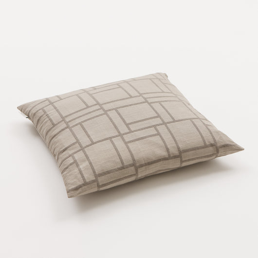 Luxury Linen & Silk Cushion - Piazza from Johanna Gullichsen - Light Mud