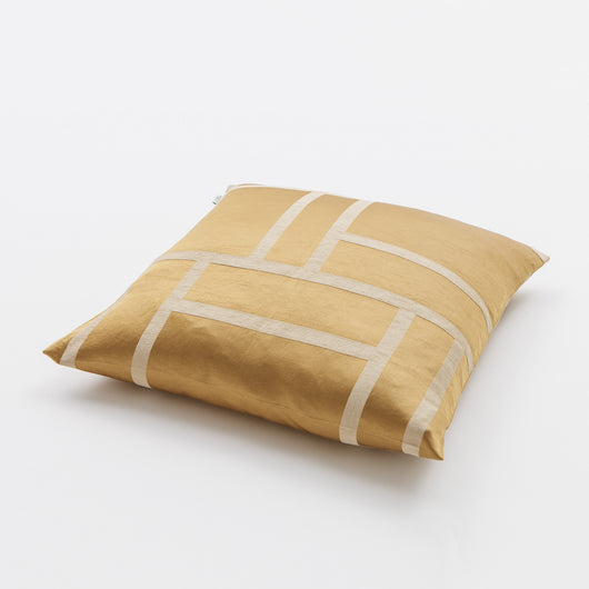 Luxury Linen & Silk Cushion - Palazzo from Johanna Gullichsen - Palazzo/Light Gold