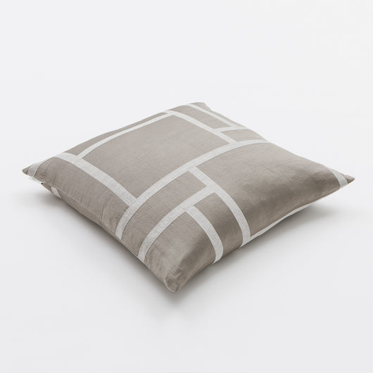 Luxury Linen & Silk Cushion - Palazzo from Johanna Gullichsen - Palazzo/Light Mud
