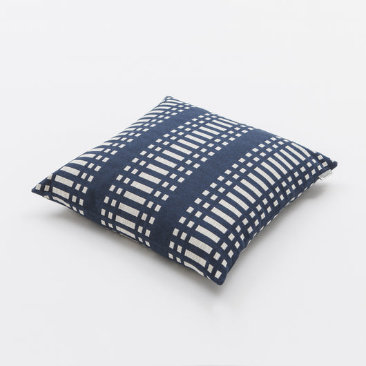 Luxury Cotton Cushion - Nereus from Johanna Gullichsen - Dark Blue