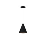 : Pendant LED Cone Light-Black