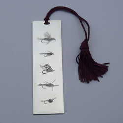 Silver Book Mark-Fishing Flies