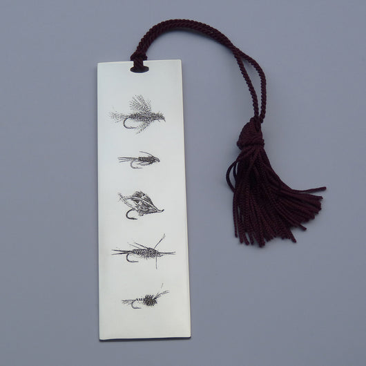 Silver Book Mark - Fishing Flies