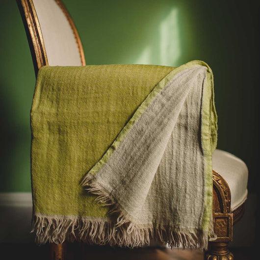 Lime Washed Wool Throw | Nicholas Engert Interiors