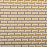 : Geometric Print Fabric - Lozenge P05.1/208-LC Curry/Vervain - Lynton-Cool Coconut