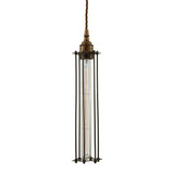 : Beirut Pendant in Antique Brass with Bronze Cage
