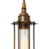 Functional Lighting Collection : Beirut Pendant in Antique Brass with Bronze Cage-Detail