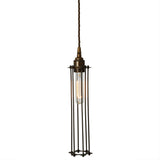 Functional Lighting Collection : Beirut Pendant in Antique Brass with Bronze Cage