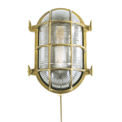 Ross Outdoor Marine Bulkhead Light-Polished Brass | Nicholas Engert