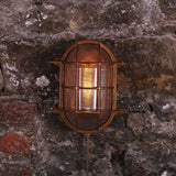 : Ross Outdoor Marine Bulkhead Light-Antique Brass