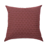 : Lattice Cushion - Poppyseed/Red Oxide