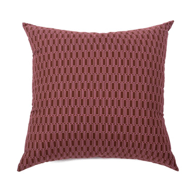 Lattice Cushion - Poppyseed/Red Oxide