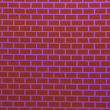 : Geometric Print Fabric - Brick P101-207 Burdock/Lilac Time