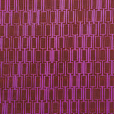 : Geometric Print Fabric - Lattice P104/211 Seaweed Bronze/Lilac Time